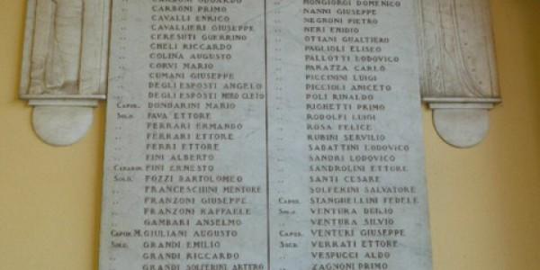 Monumento ai caduti di Savigno