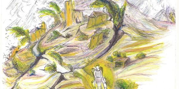 Rappresentazione di Vittorio Lenzi della leggenda di Riva Maiera